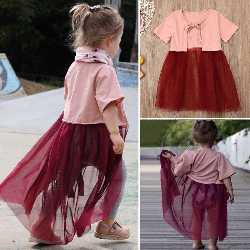 2018 Kinder Baby Mädchen Spitze Lichtschutzoberbekleidung Kleid Kleine Mädchen Sommer Mantel Outfits Kleidung