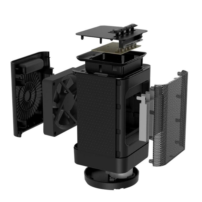 Startseite Desktop Mini Elektrische Heizung Schütteln Hand Heizung Fan Tragbare Warme Heißer Klimaanlage Fan für Winter Erwärmung Maschine - 4
