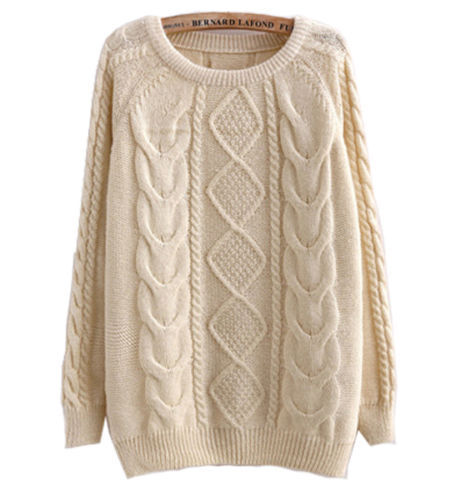 SW109 Women Candy Coloured Cable Knitted Sweater Jumper Pullover Jumper Tops Pullover Knitwear 2014 FreeShipping