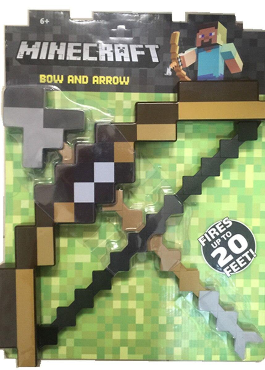 Minecraft игрушки Пиксельная мозаика Minecraft лук и стрелы меч Кирка набор пластиковых набор детской игрушки игры подарок