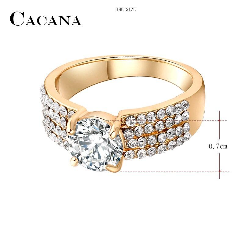 vraie qualité Nouvelle liste qualité parfaite CACANA Four lines Cubic Zirconia Rings For Women Trendy ...