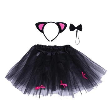 Newborn Photography Props Infant Halloween Costume Outfit Baby Tutu Skirt Headwear Clothes for Masquerade Halloween Party