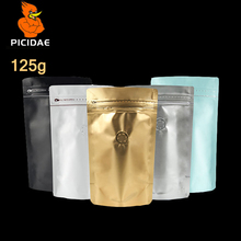 1/4 lb seasoning Jujube Casual Snack 125g nut tea food packing Bag stand up Aluminized storage Wide bottom zipper ziplock valve