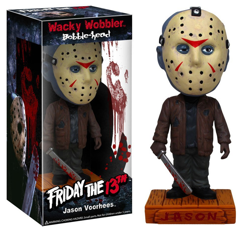 [Funny] 18cm Original box Friday the 13th Jason Wacky Wobbler Bobble Head PVC Action Figure Collection Toy Doll model kids gift the flash man action figure kid toys pvc collection model toy gift for children 18cm