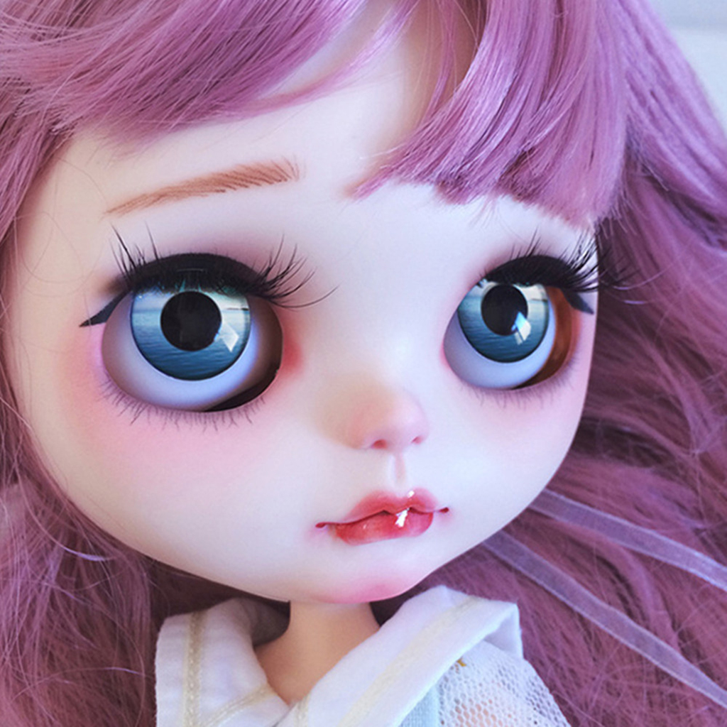 9 Sheets Doll Eyes Chips Pattern for Blythe Dolls DIY Making Accessory J-R