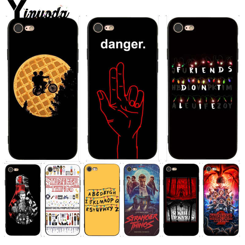 Yinuoda For iphone 7 6 X Case Stranger Things Stylishness and Elegance Phone Case for iPhone X  8 7 6 6S Plus X 5 5S SE 5C