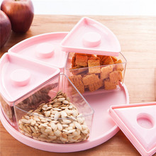 Snack storage cases Food grade PP+PS healthy storage boxes Dried fruit 5 boxes 25*8.8cm food container free shipping Q-34(China)