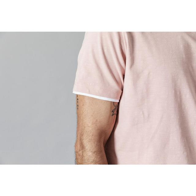 Men's Slim Fit T-shirts  Contrast Bindings Casual O-neck