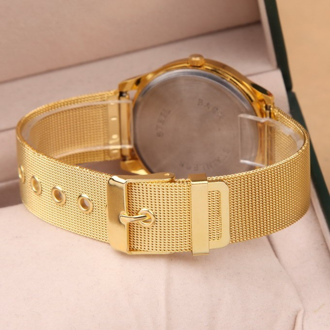 5e76289df3d Noble Geneva Dress Watch Gold Relogio Feminino Clock Simple Vogue ...