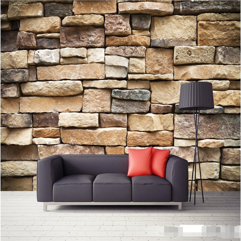 wallpaper 3d large mural decor photo backdrop Photographic HD outdoor brick wall restaurant ...