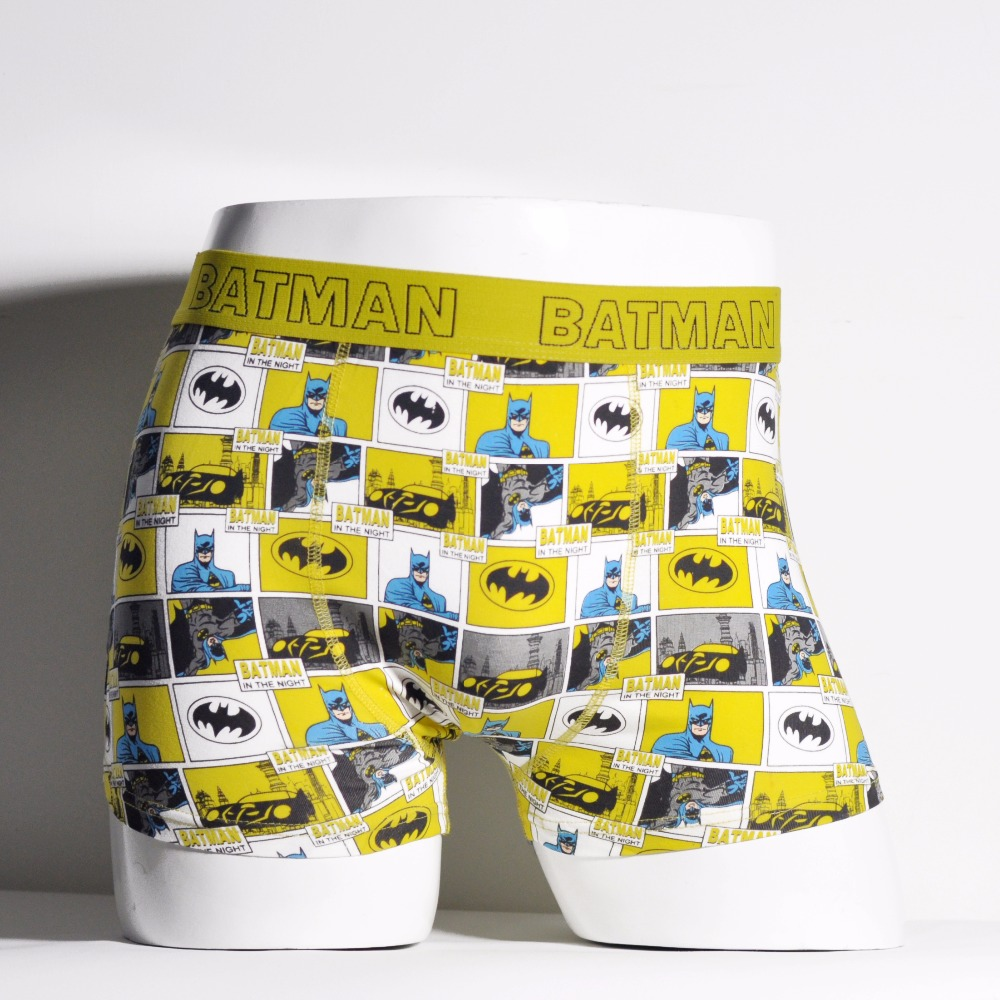 Movie Cartoon Underpants Boxers 365 Brands Underwear Men Cotton Calzoncillos Batman Cuecas Boxers Shorts Men Trunks Health