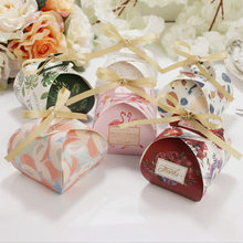 12pcs/lot Popular Wedding Favours Gift Boxes Colorful Cake Box Packaging eco-friendly Gift Boxes for Wedding events(China)