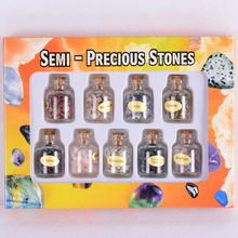 Crushed stone mixed boxed 9 kinds of chip stone specimen Natural Chakra Gemstone Rock Mineral Crystal Healing meditation