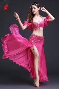 Image 5 - Nuovo Professionale di Danza Del Ventre Abbigliamento Le Donne Orientali costumi di Danza Del Ventre per le Prestazioni di danza del ventre vestito S M L
