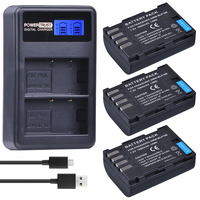 3Pcs 1860mAh DMW BLF19E DMW BLF19 Camera Battery DMW BLF19 BLF19 BLF19E LCD Dual USB Charger