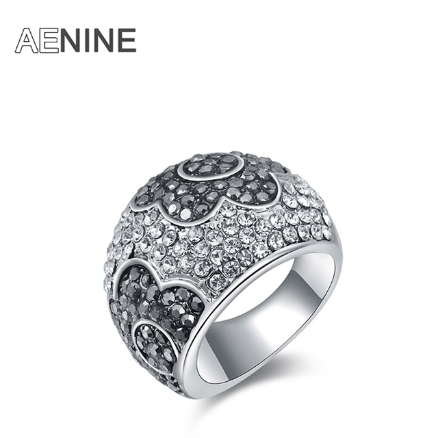 Fashion Rings gold-color anillos wedding rings Austrian crystal Environmental Micro-Inserted Jewelry R150130297P