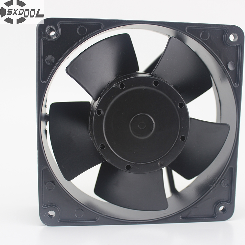 SXDOOL cooling fan 220V UHS4556M 20/18W 12038 12CM high temperature all-metal cooler
