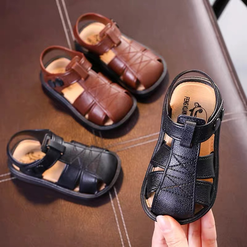 Boys And Girls Sandals Baotou Beach Shoes 1-3 Years Old Children Non-slip Soft Bottom Children's Sandals Non-slip Summer Sandals
