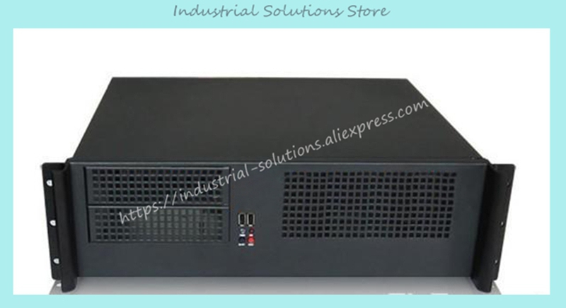 цена New Ultra-Short 3U Computer Case 38cm 8 Hard Drive PC Large-Panel Big Power Supply 3U Server Industrial Computer Case