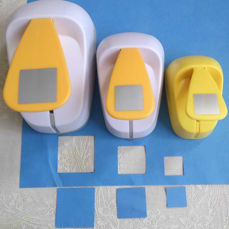 Gratis Verzending 18Mm-53Mm Vierkante Craft Punch Scrapbooking School Diy Papier Cutter Eva Foam Geometrie Gat ponsen