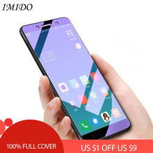 IMIDO Full Coverage Anti Blue Tempered Glass for PocoPhone F1 Anti Blue Screen Protector for PocoPhone F1 Anti Blue-ray Film
