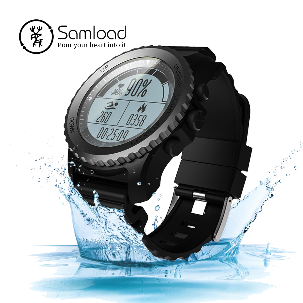 Samload Bluetooth Smart Watch GPS Professional Sports Watch Dynamic Heart Rate iP68 Environment temperature For iPhoneX Android