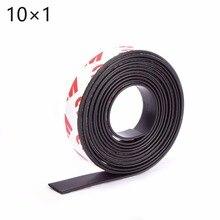 Высокое качество 10 метров самоклеющиеся гибкие магнитные полосы 3 м резиновые магнитные ленты ширина 10 мм толщина 1 мм 10*1