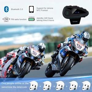 Image 5 - VNETPHONE V8 Xe Máy Bluetooth Mũ Bảo Hiểm Liên Lạc Nội Bộ Mà Không Điều Khiển Từ Xa 5 Nhóm Thảo Luận Chống Nước Không Dây Tai Nghe FM NFC 1.2