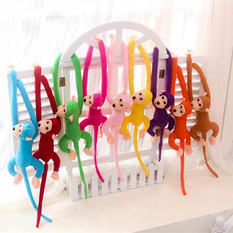 1 pcs 70CM Hanging Long Arm Monkey from arm to tail Plush Baby Toys colorful Doll Kids Gift amysh hot 4 colors 65cm long arm monkey from arm to tail plush toys colorful toy soft monkey curtains monkey stuffed animal doll