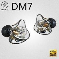 Bgvp dm7 6 armadura balanceada monitor de alta fidelidade do metal do fone de ouvido com cabo destacável mmcx dmg dm6 dms as16 as12 ctz t2