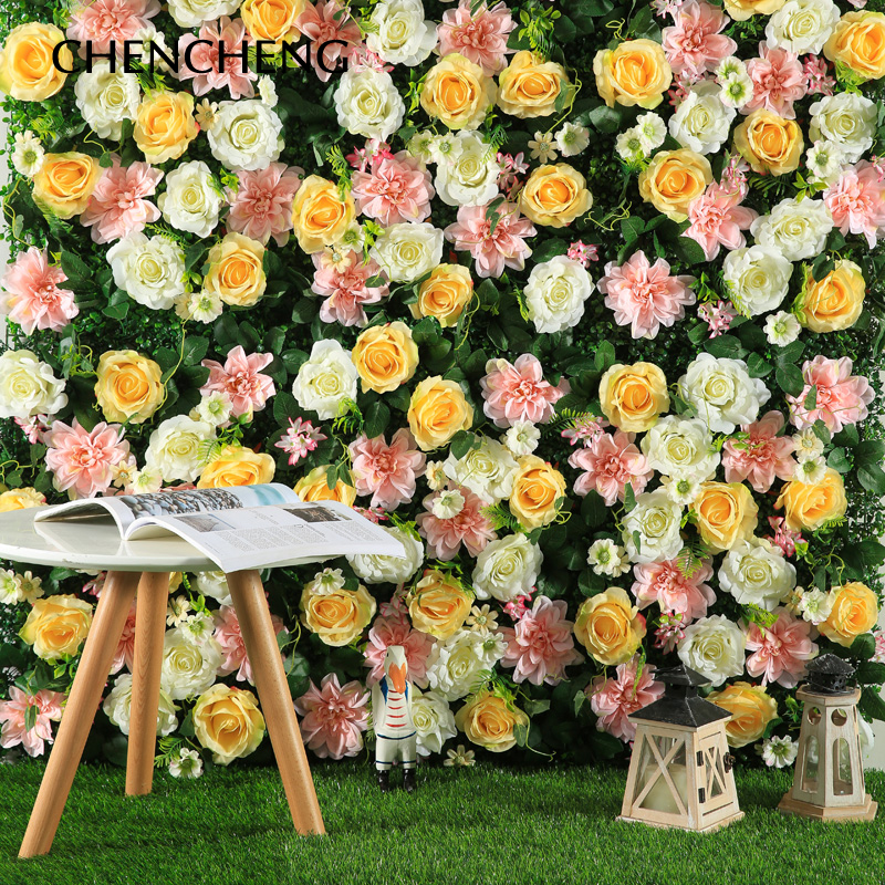 40CM*60CM Wedding Flower Wedding Decoration Wall Peony Roses Mat Home Hotel Shopping Mall Decoration Accessories ...