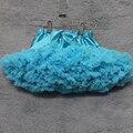 Niños pettiSkirt Sólido teal azul tutus totalmente gasa ropa de baile niñas pettiskirt del tutú de la muchacha niños