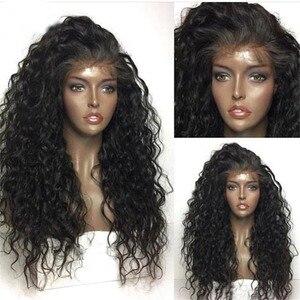 Image 3 - Парик Фэнтези красота 180% Тяжелая плотность волна воды синтетический кружевной передний парик термостойкие волоконные Длинные свободные вьющиеся парики для женщин