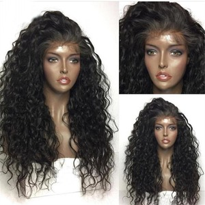 Image 3 - Fantasy Beauty 180% Heavy Density Water Wave Synthetic Lace Front Wig Heat Resistant Fiber Long Loose Curly Wigs For Women