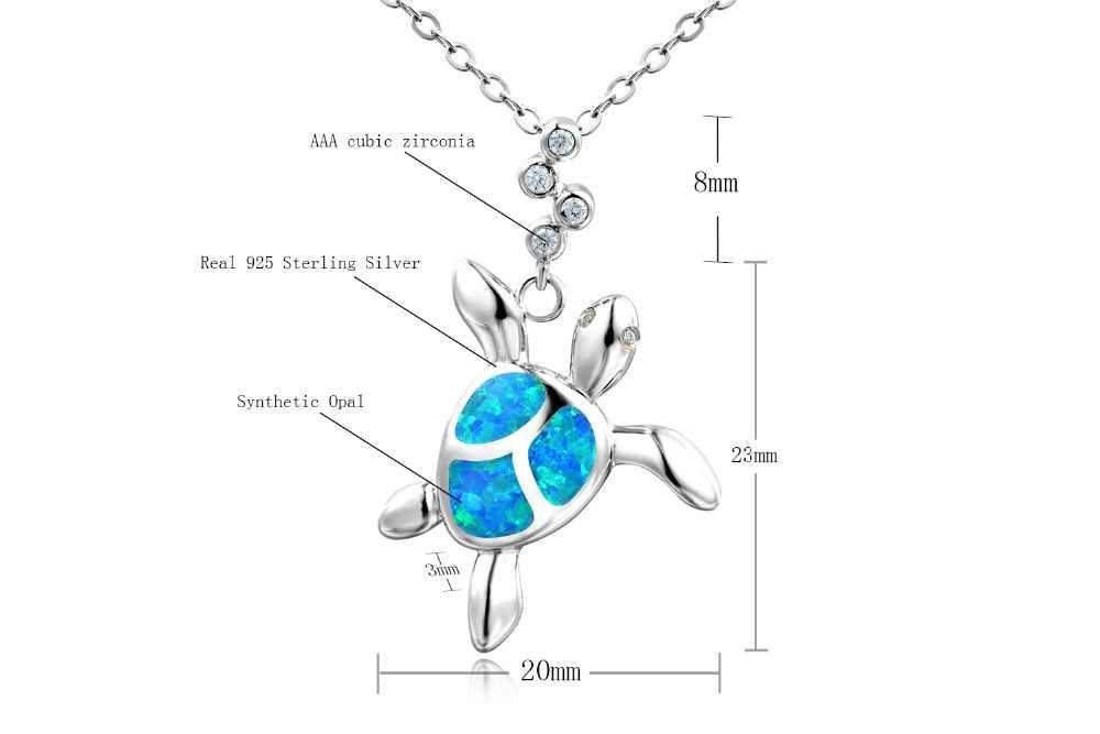 DORMITH Настоящее серебро 925 проба ожерелье, созданное ожерелье с опалом милые черепахи Подвески ожерелье для женщин ювелирные изделия ожерелье