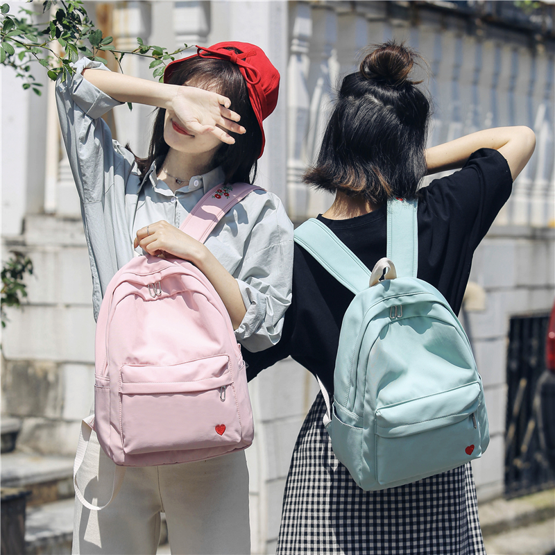 Backpacks Harajuku Street Fashion School Bag Pack Women Japanese Korean Style Casual Student Backpack Girls Boys Gray Black Pink Knapsack