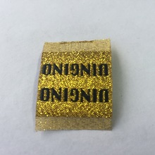 Custom Gold Metalic material Woven Label clothing labels ziiiro наручные часы ziiiro eclipse metalic rose gold