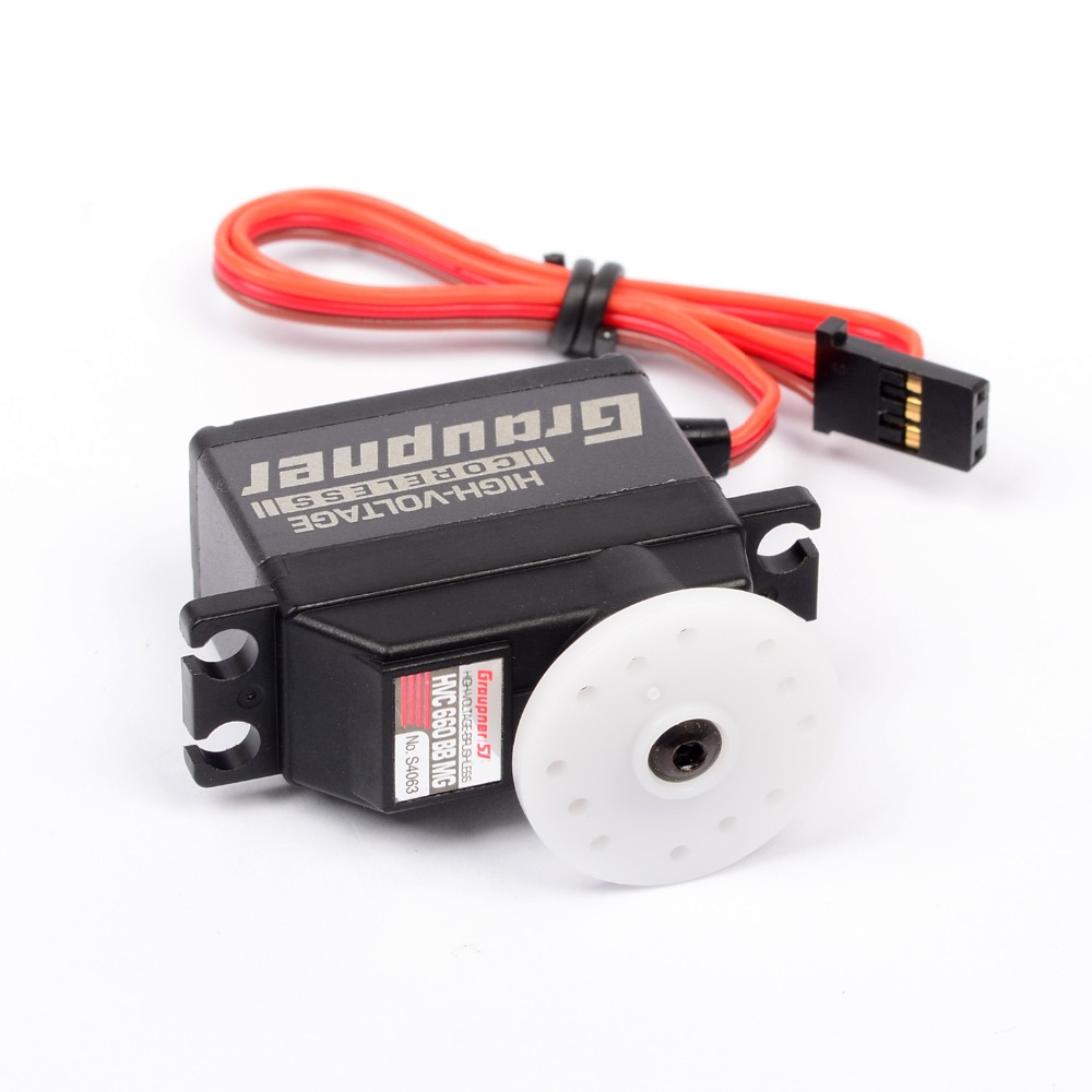 Graupner HVC 660 BBMG Torque 16mm HV CL RC Digital Servo For Robot RC Boat Car Airplane Heli 1pcs jx pdi 6221mg 20kg large torque digital coreless servo for rc car crawler rc boat helicopter rc model