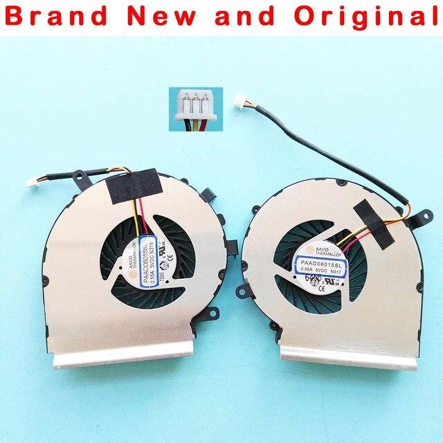 New original CPU GPU cooling fan For MSI GE72 GE62 PE60 PE70 GL62 GL72 fan Cooler PAAD06015SL N317 N318 0.55A DC 5V N303 N302