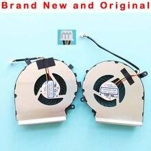 Novo original cpu gpu ventilador de refrigeração para msi ge72 ge62 pe60 pe70 gl62 gl72 refrigerador do ventilador paad06015sl 0.55a dc 5v