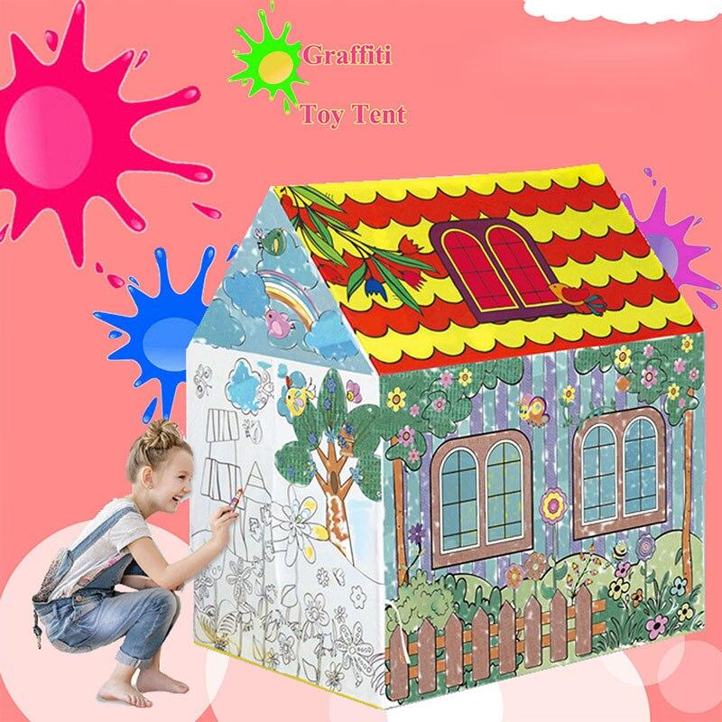 2018 nouveaux enfants jouets tentes enfants jouent tente garçon fille princesse château intérieur extérieur enfants maison jouer boule fosse piscine Playhouse pour enfants