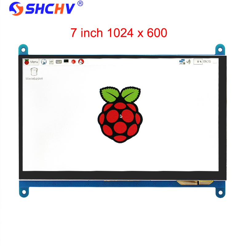 7 Inch Raspberry Pi 3 Touch Screen 1024 * 600 LCD Display HDMI Interface TFT Monitor Module Compatible Raspberry Pi 2 Model B 7inch hdmi lcd display module 1024 600 touch screen digitizer driver board hdmi interface controller for raspberry pi