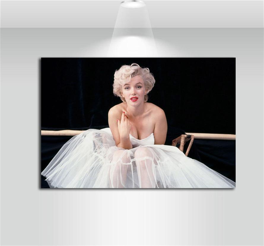 Marilyn Monroe Canvas Painting Living Room Home Decor Modern Mural Art Oil Painting