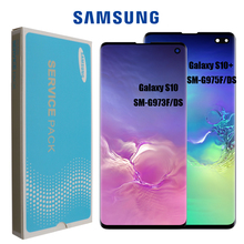 Nieuwe Super Amoled Lcd Voor Samsung Galaxy S10 SM G973F G973 S10 Plus G975 SM G975F Lcd Touch Screen Digitizer Vervanging