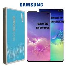 Nowy SUPER AMOLED LCD do Samsung Galaxy S10 SM G973F G973 S10 Plus G975 SM G975F wyświetlacz LCD ekran dotykowy wymiana Digitizer