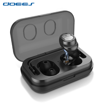 DOEES Bluetooth Earphone Wireless Earphones Handsfree Cordless Headsets Earbuds in-ear Sport Headphone With Mic And Charging Box
