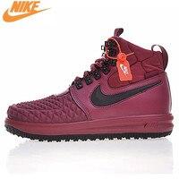 Nike LUNAR FORCE 1 DUCKBOOT 17 Men S Comfortable Skateboarding Shoes Original Outdoor Sneakers Black And
