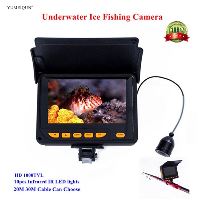 20M 30M HD 1000TVL Underwater Ice Fishing Fish Camera Video Fish Finder 4 3 LCD 8pcs