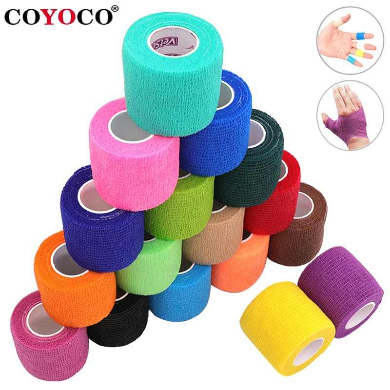 COYOCO Colorful Sport Self Adhesive Elastic Bandage Knee Support Pads 4.5m Wrist Ankle Protector Palm Shoulder Wrap Tape Bandage