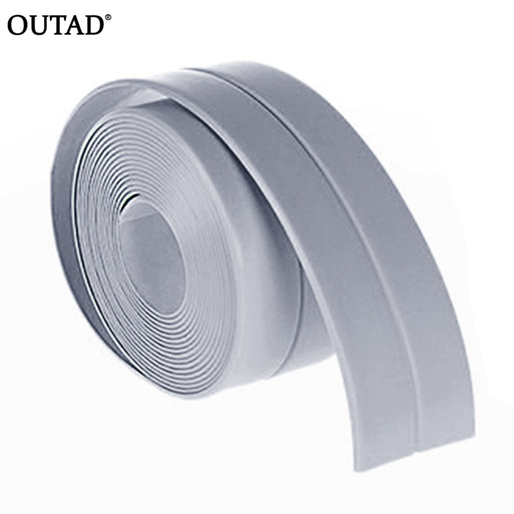 OUTAD 38mm*3.2m DIY Self adhesive Waterproof White Mildewproof Sealing Sealant Strip Tape for Bathroom Kitchen 10m super strong waterproof self adhesive double sided foam tape for car trim scotch